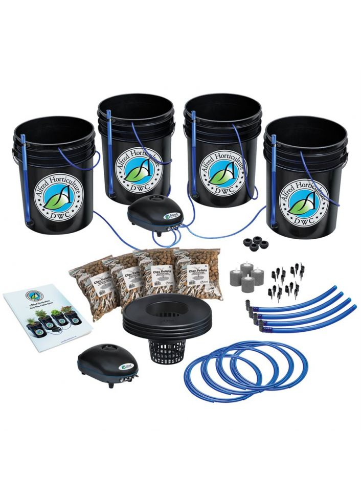 4 plants- 4x4 Kit hydroponique Alfred horticulture