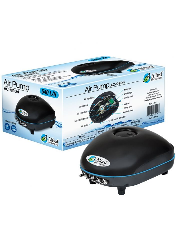 ALFRED AIR PUMP 4 OUTLETS, 540 L / H, 5W